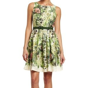 Eva Franco Anthropologie Floral Sleeveless Dress